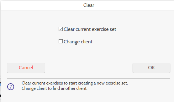Clear client and program