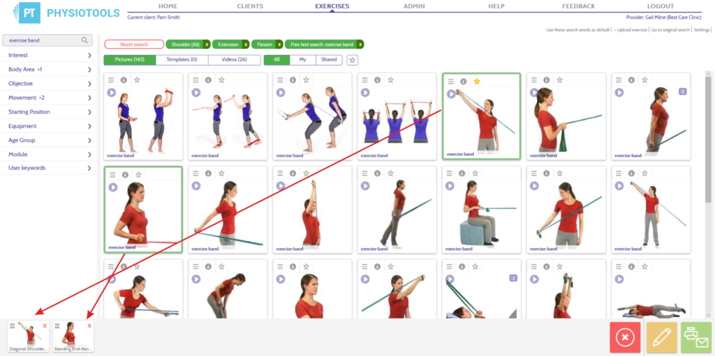 Selecting Exercises