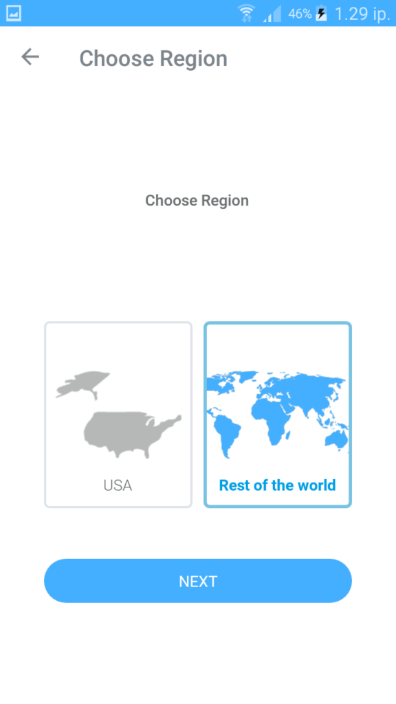 choose region